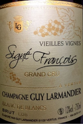 Champagne Grand Cru Millésimé 2008 Guy Larmandier